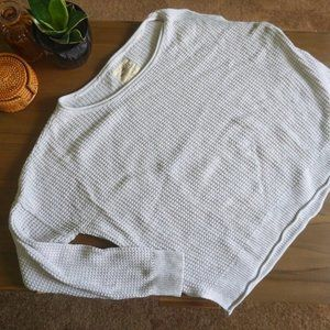oversized boxy off the shoulder Hollister sweater